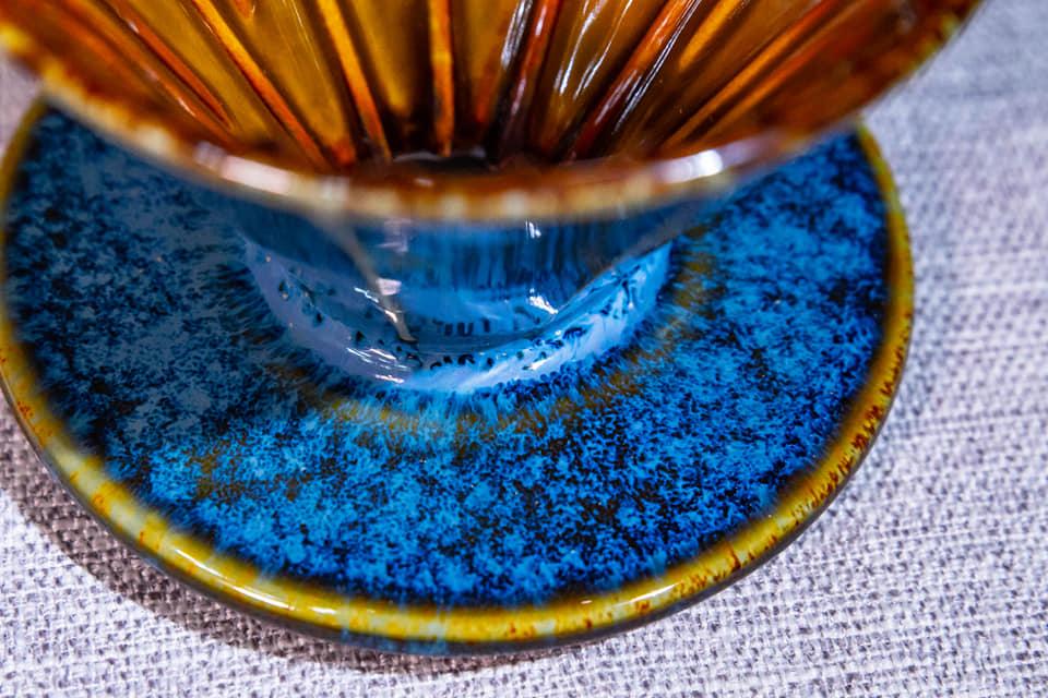 川流天目藍濾杯