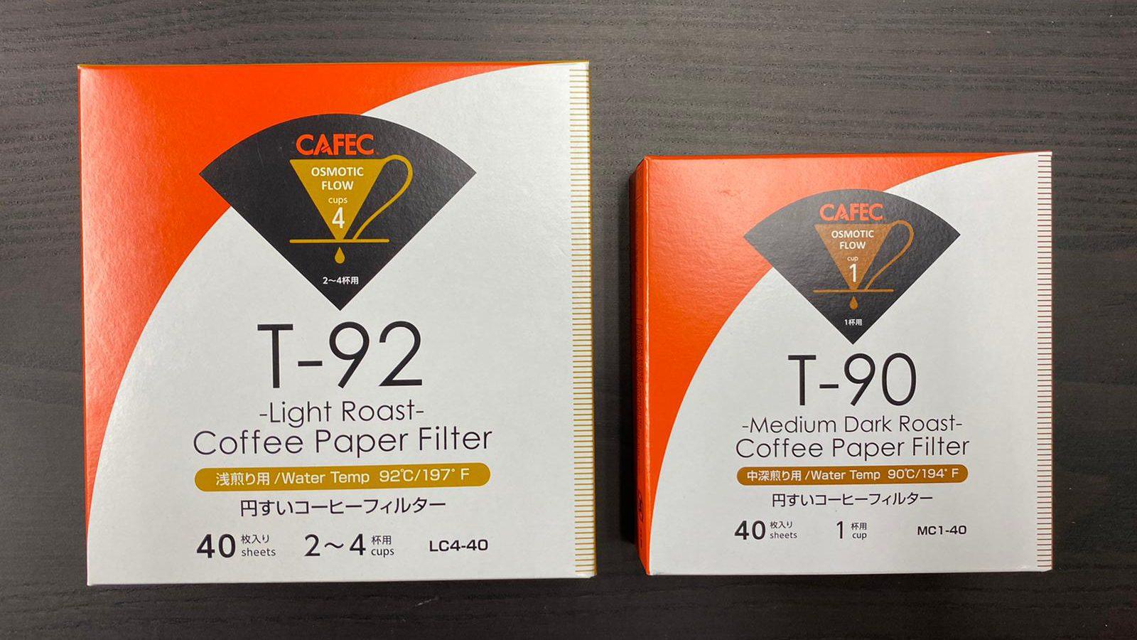 CAFEC T92/T90濾紙 (40張裝)